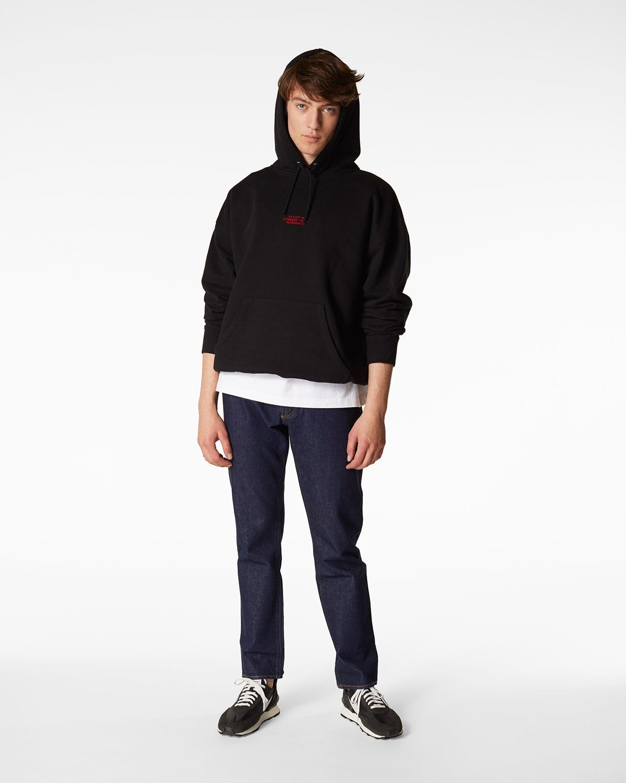 Stranger Things 3 x Highsnobiety Logo Hoodie - Black - Image 6