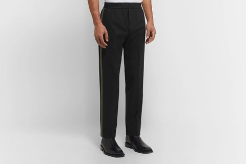 Tapered Striped Trousers