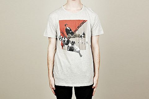 21eb30220 The Blitz T-Shirt from Marc by Marc Jacobs is is cut with a regular fit and  made from cotton marl a nice soft fabric. It features a ribbed crew neck  and a ...