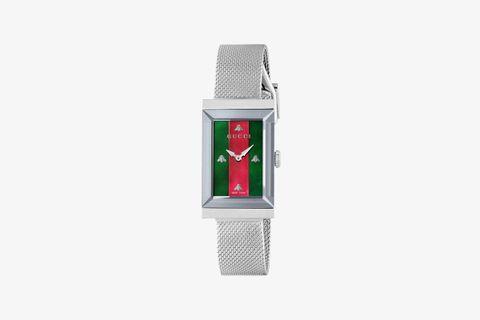 Gucci G-Frame Watch (Steel Mesh)