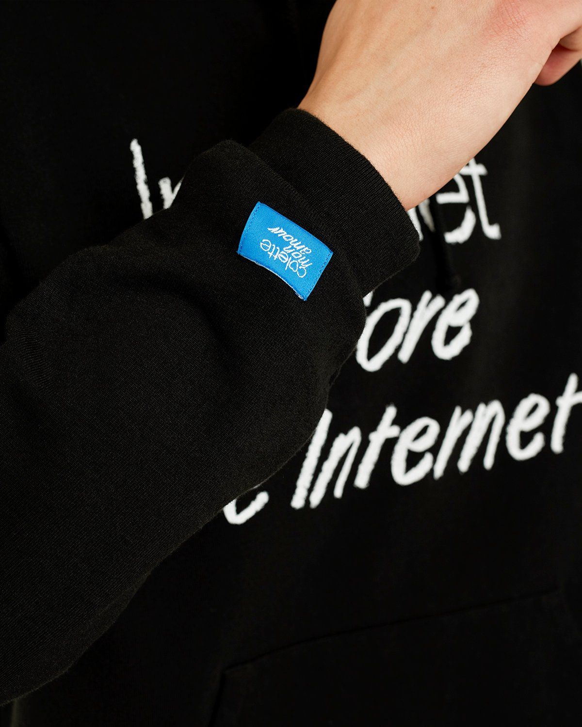 colette Mon Amour - The Internet Before The Internet Hoodie Black - Image 3