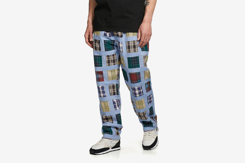 Madras Patchwork Plaid Pants