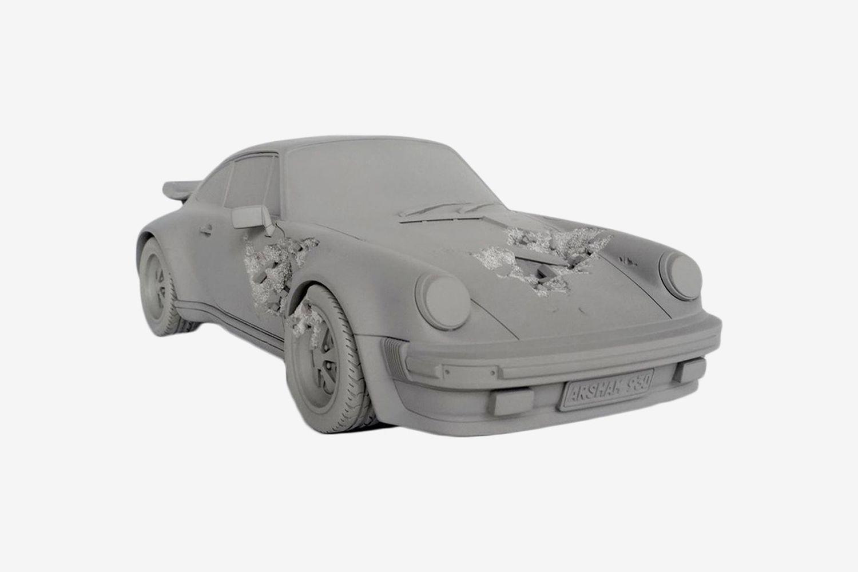 Eroded Porsche 911 Figure