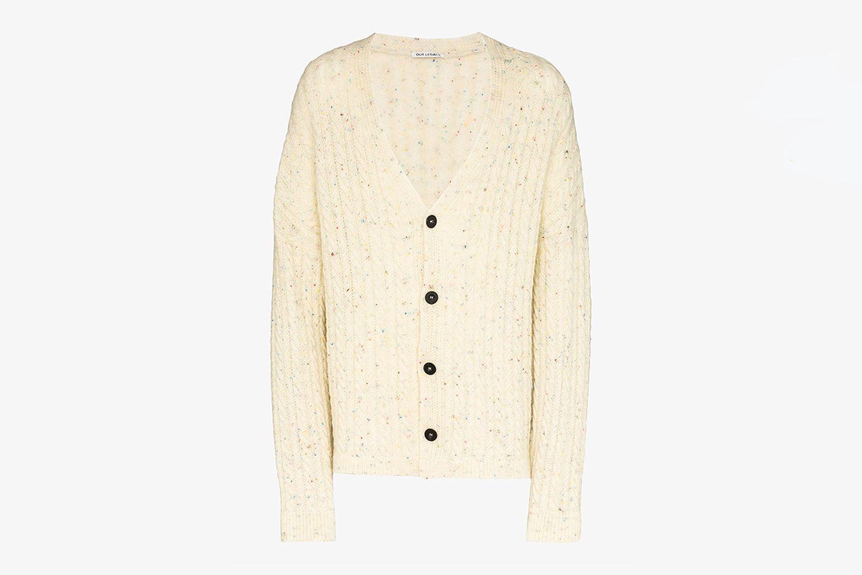 Rainbow Thread Wool Cardigan