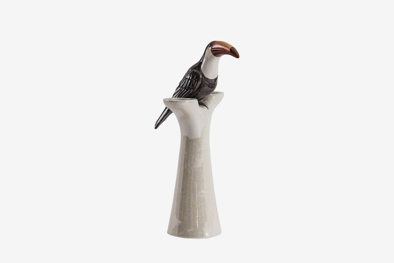 Tucan Porcelain Vase
