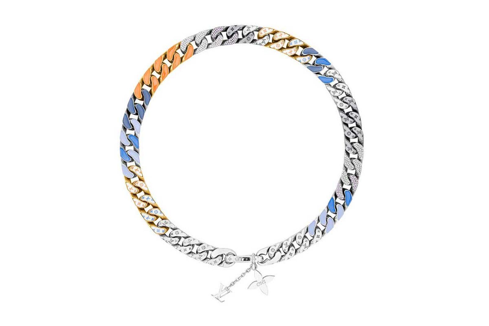 louis vuitton lv chain link neckalces (4)