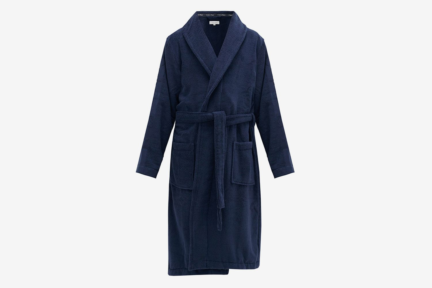 Logo-Jacquard Cotton-Terry Bathrobe