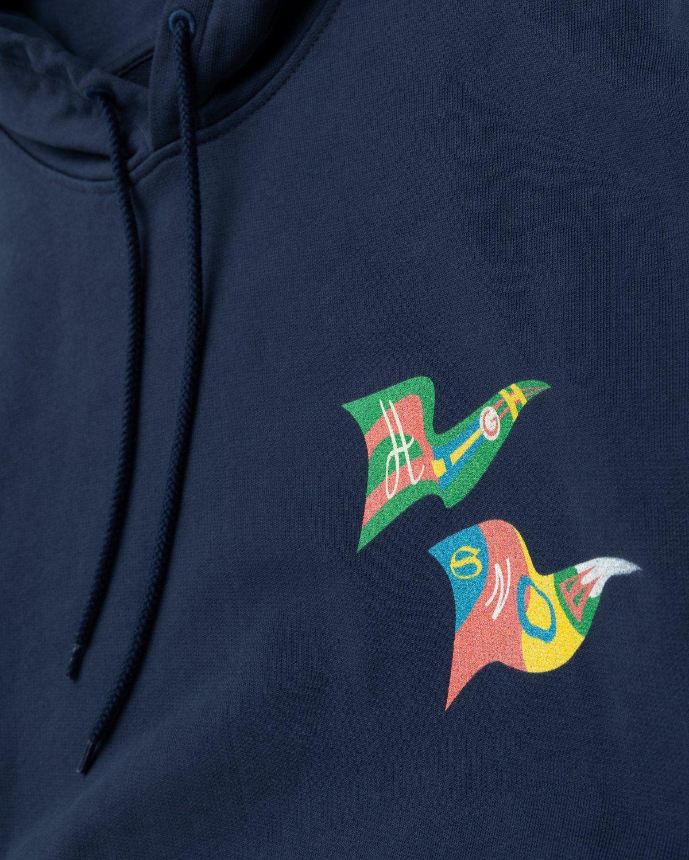 Highsnobiety – Flags Hoodie Navy - Image 3