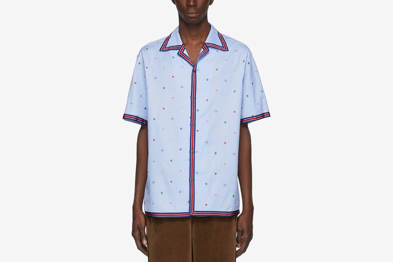 Multi Icon Bowling Shirt