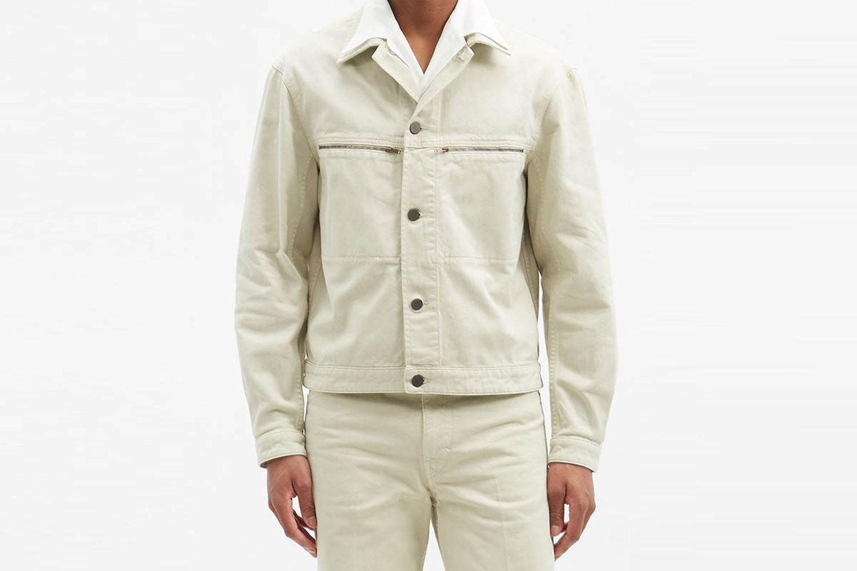 Zipped-Pocket Denim Jacket