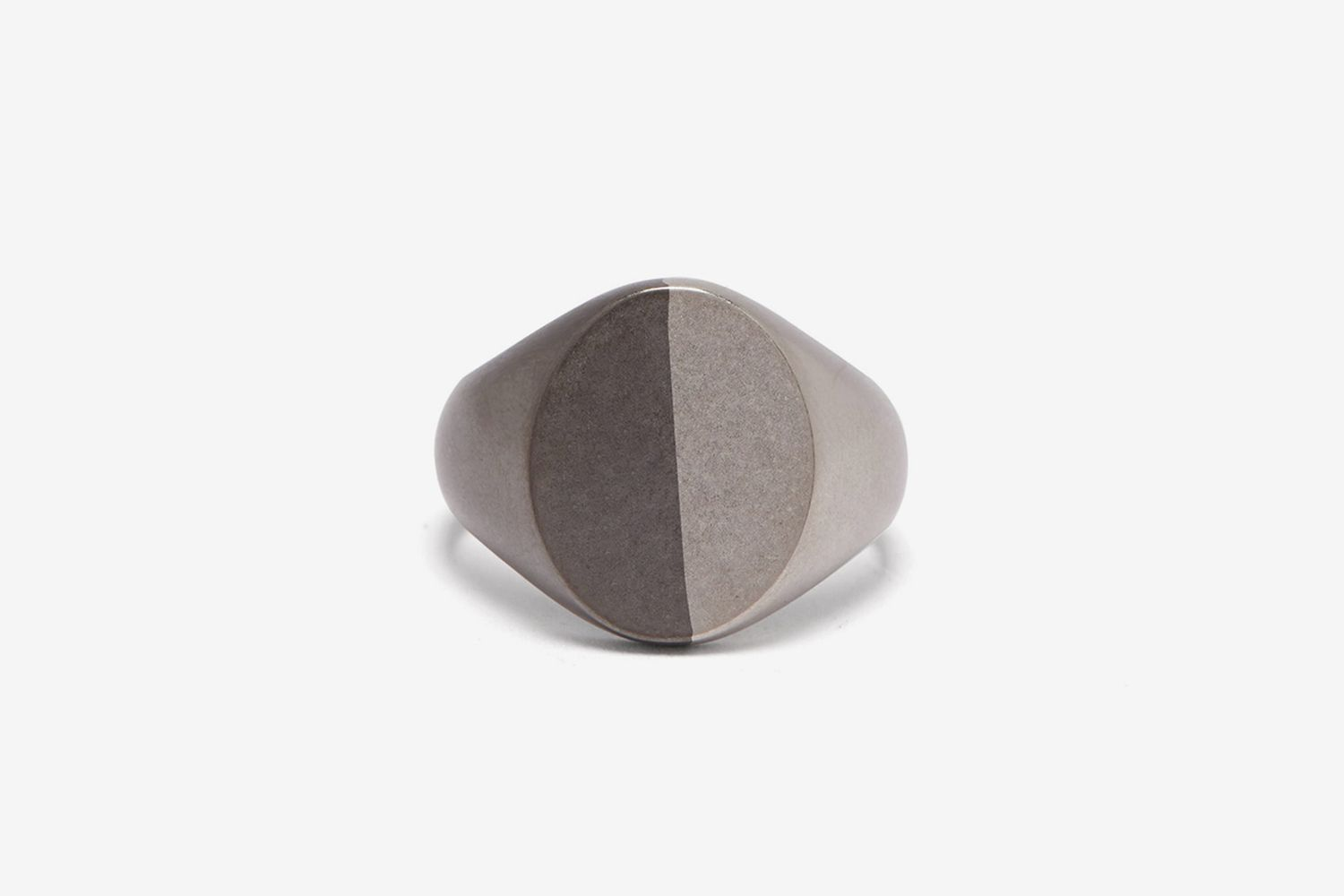 Two Tone Silver Signet Ring