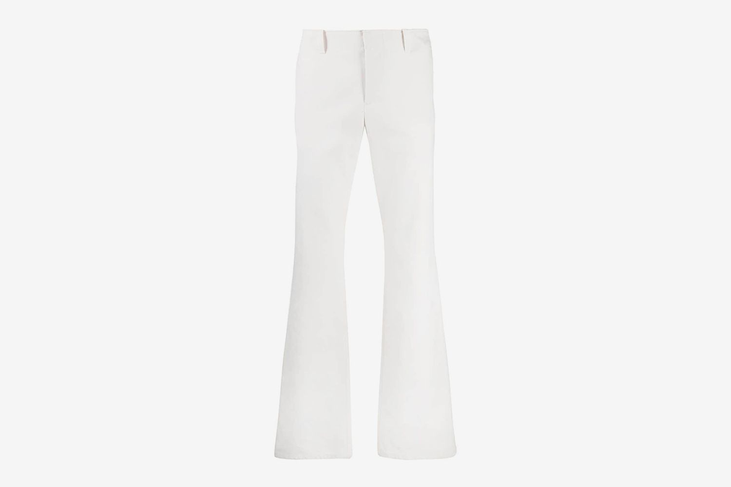 Mid-Rise Flared Trousers