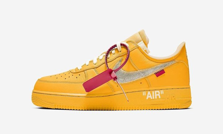 "Off-white x Nike Air Force 1 ""University Gold"""