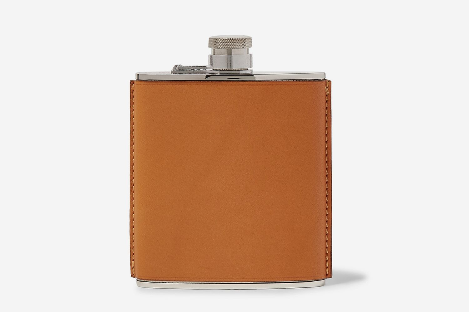 6oz Leather And Stainless Steel Flask