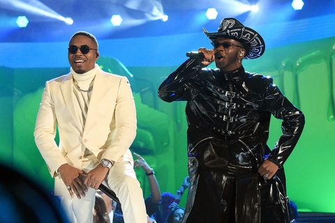 Nas Lil Nas X performing