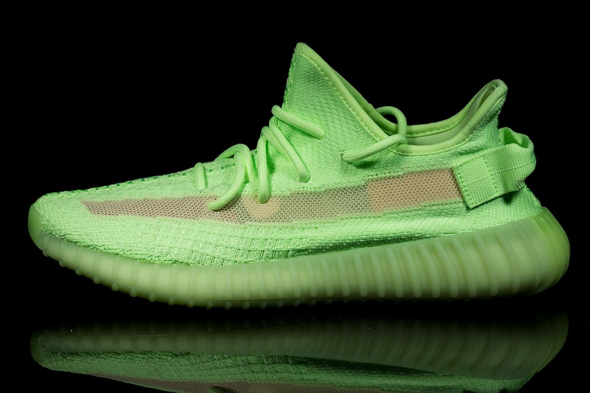"""82ef9291 Next up in 2019's adidas YEEZY line-up is the all-new YEEZY 350 v2 """"Glow in  the Dark"""". A decidedly more statement offering than recent earthy hues such  as ..."""