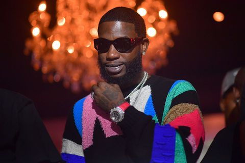 Gucci Mane shades colorful sweater