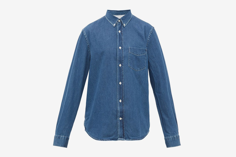 Isherwood Button-down Collar Cotton-chambray Shirt