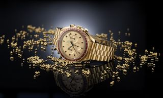 Omega's Luxe 18-Karat Gold Speedmaster Celebrates Apollo 11