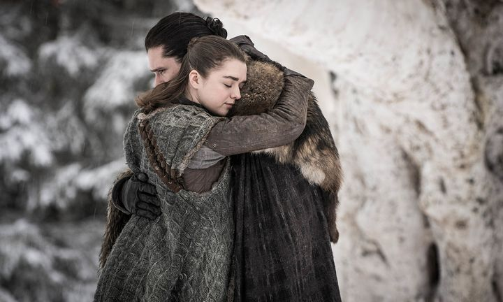 Jon Snow Arya Stark Game of Thrones hugging