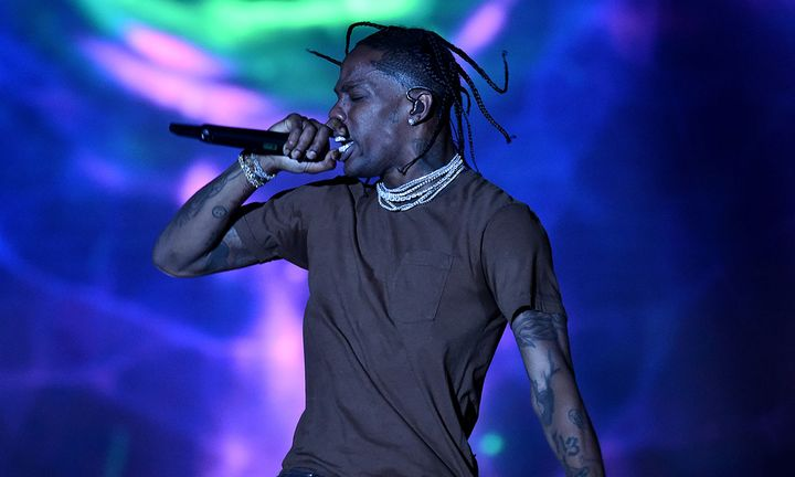 Travis Scott performing