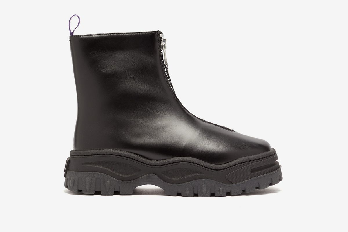 Raven Exaggerated Sole Leather Boots