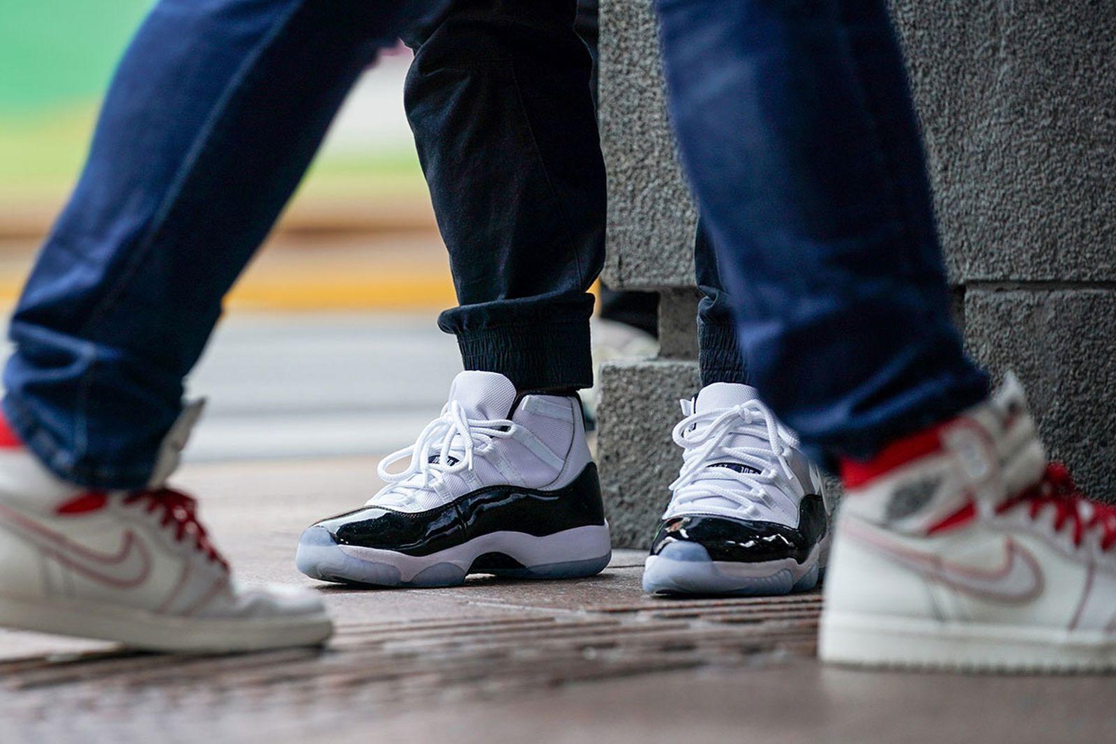 on-foot look at nike air Jordans