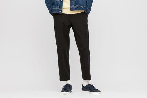 Ezy 2-Way Stretch Cotton Ankle-Length Pants