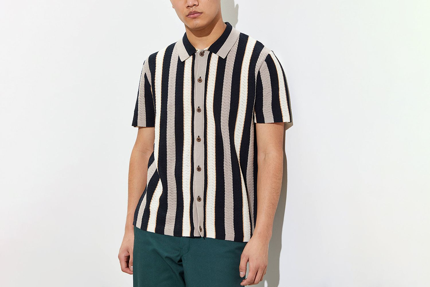 Silas Short Sleeve Button-Front Sweater