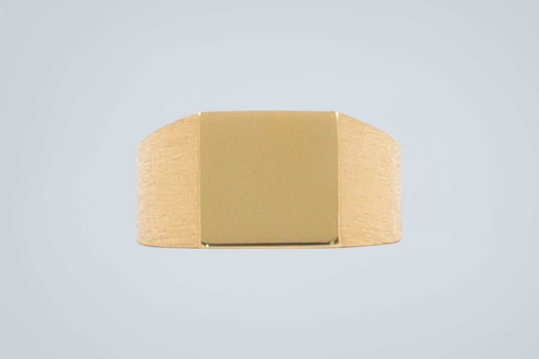Platform Gold Vermeil Ring
