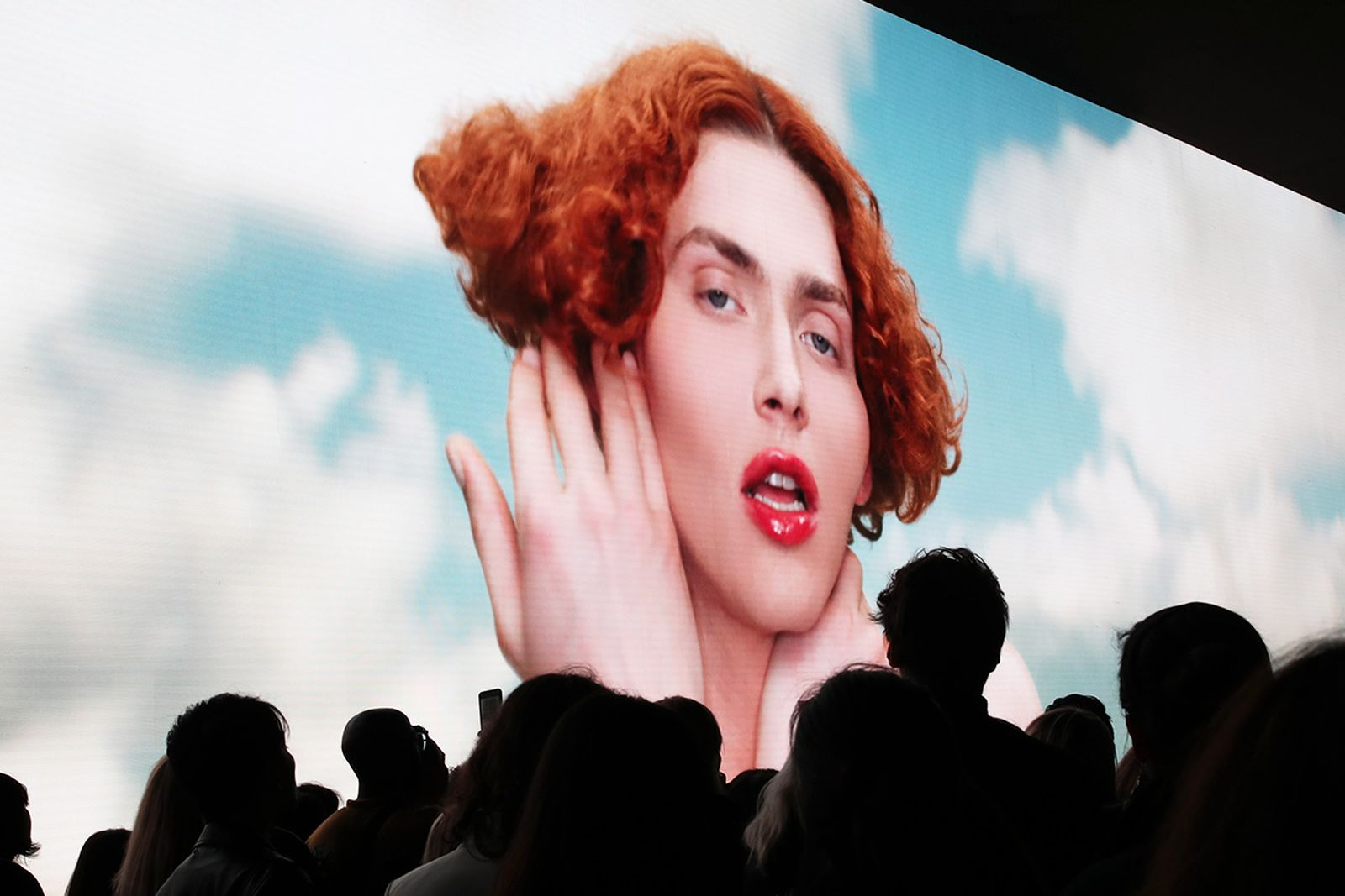 Illustration view of SSOPHIE on the screen during the Louis Vuitton Womenswear Spring/Summer 2020 show as part of Paris Fashion Week