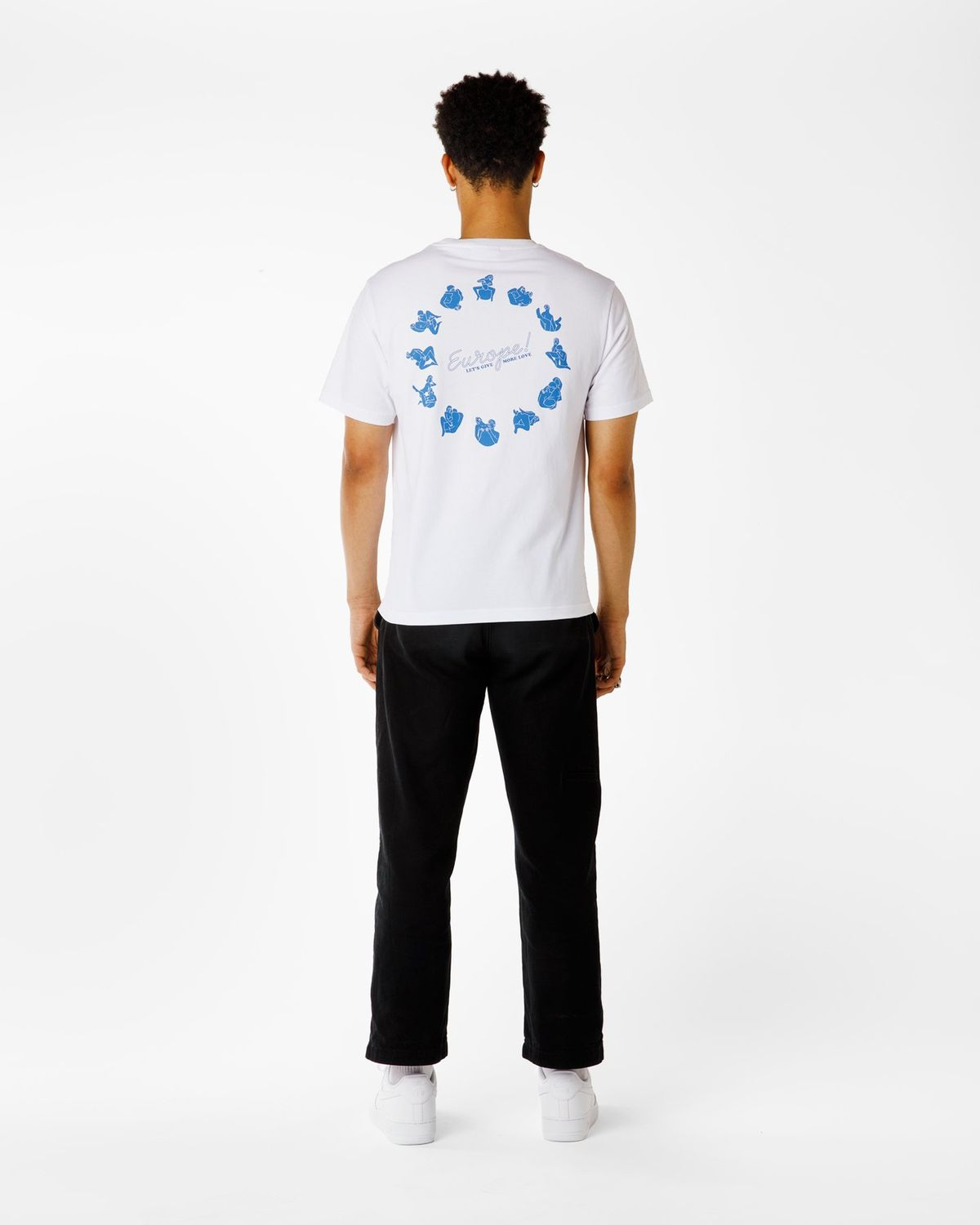 Carne Bollente  — Let's Give More Love T-Shirt White - Image 6