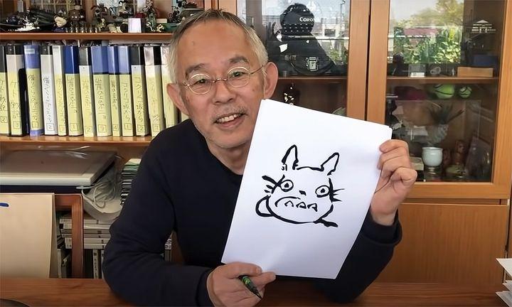 Studio Ghibli Toshio Suzuki drawing