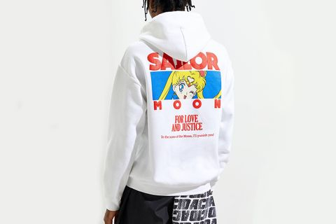 Sailor Moon Puff Print Hoodie Sweatshirt