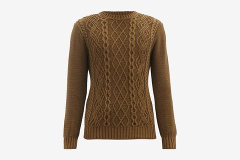 Aran-Knit Organic Cotton Sweater