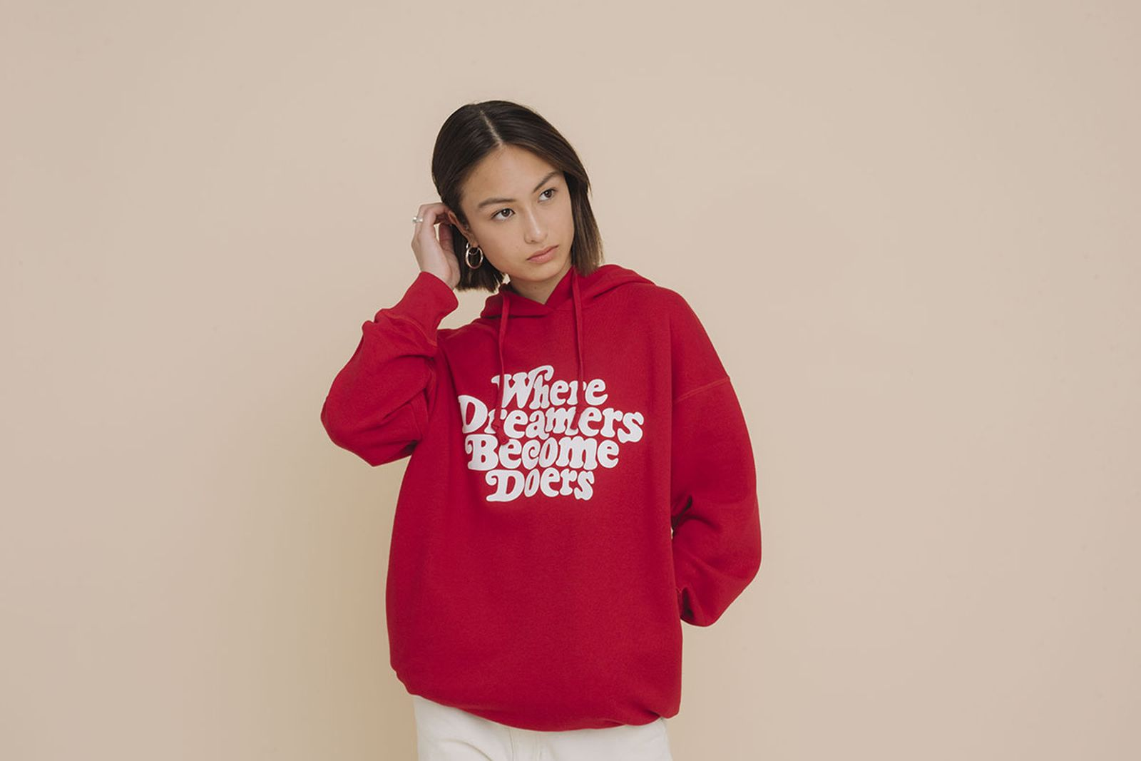 Uniqlo Verdy FW19 red hoodie