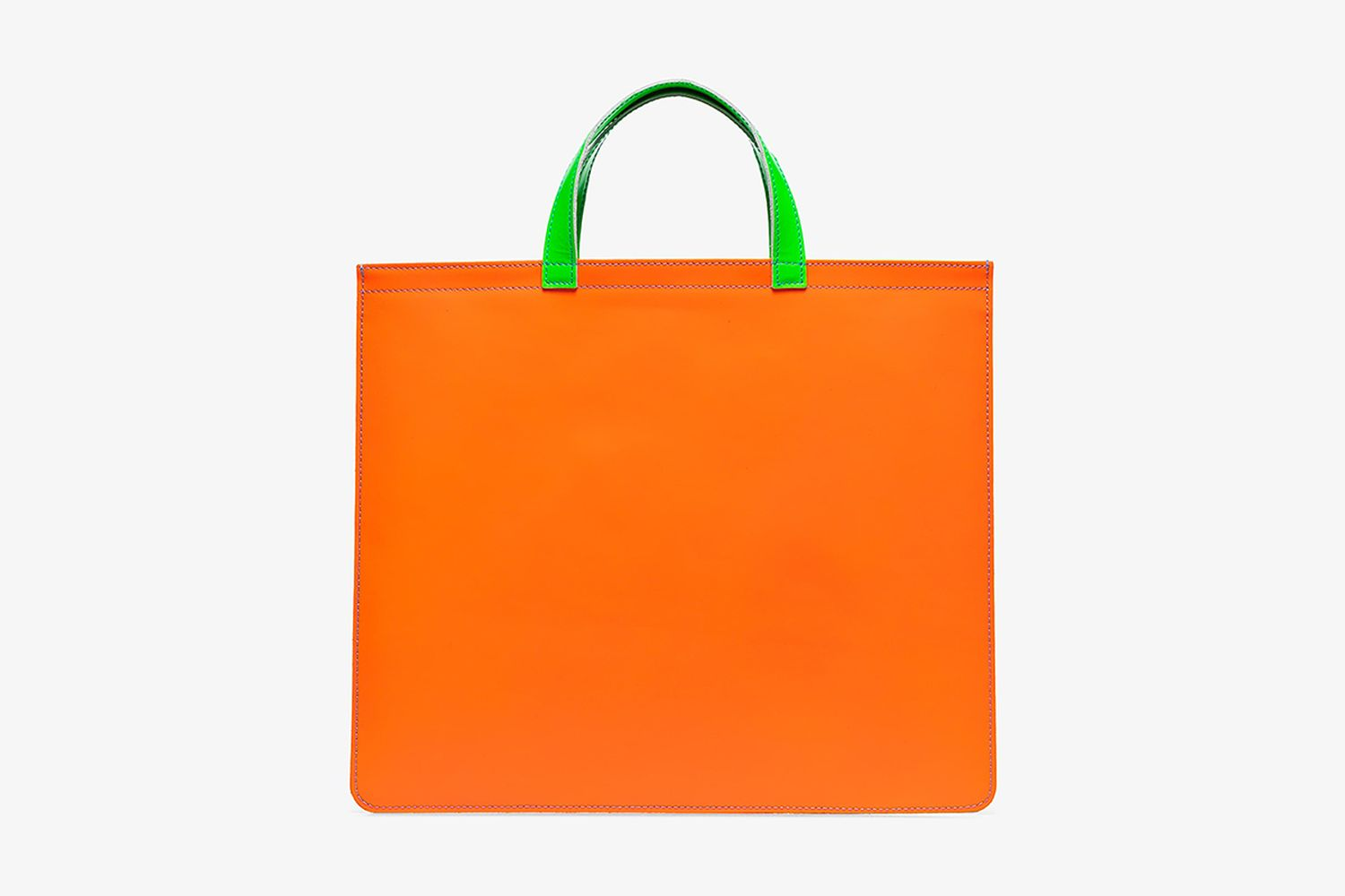 Colour Block Leather Tote Bag