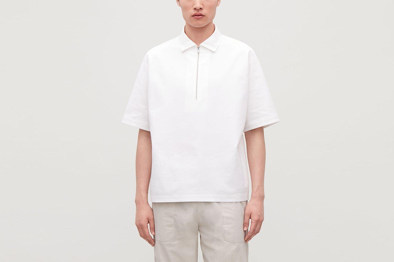 Kimono Sleeve Polo Shirt