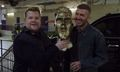 James Corden Pranks David Beckham With Hideous Statue That Looks Nothing Like Him