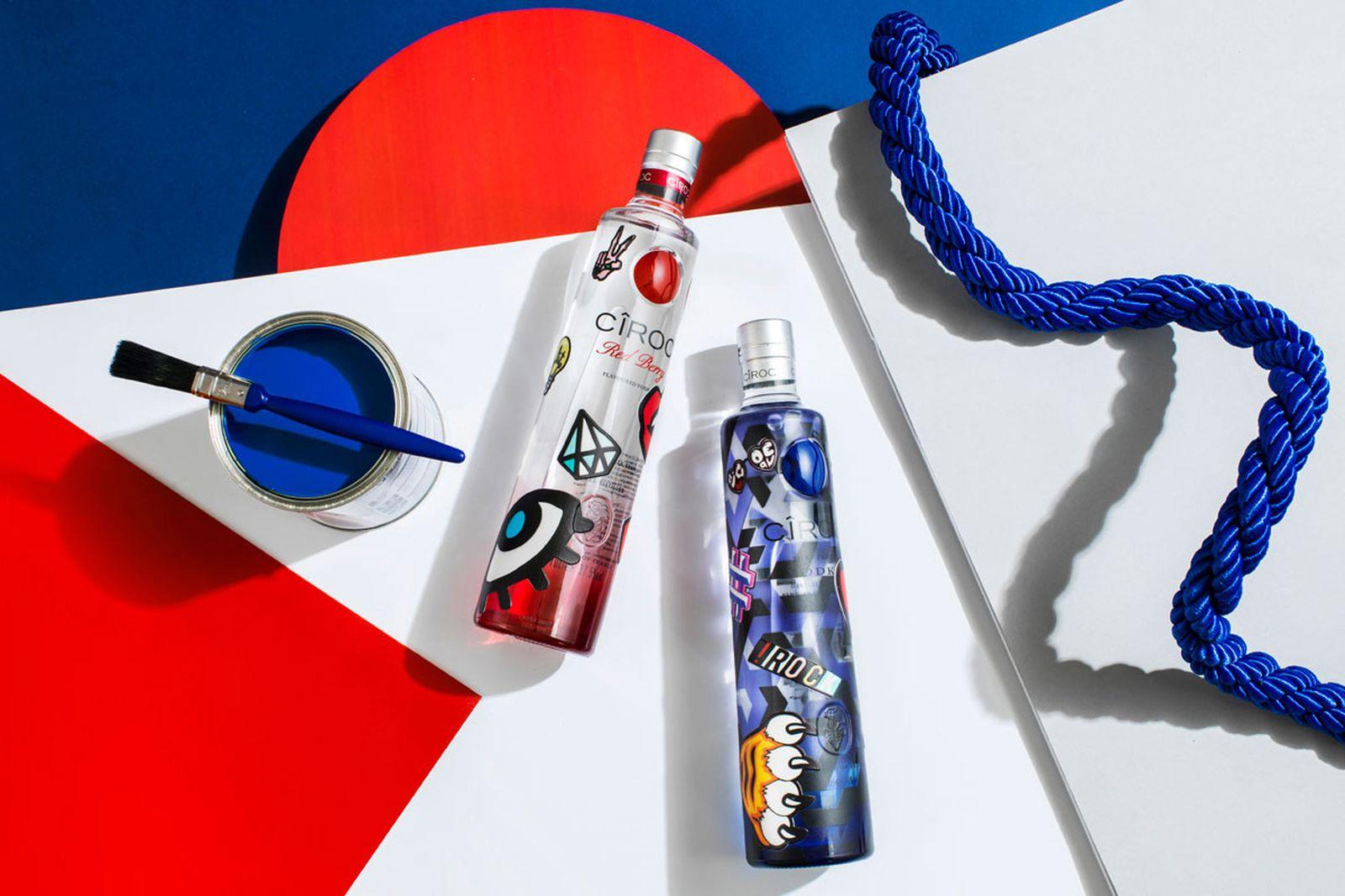 INKD Ciroc spirits bottle design CÎROC