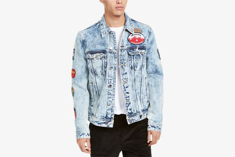 Men's Dillon Logo Denim Jacket with Patches
