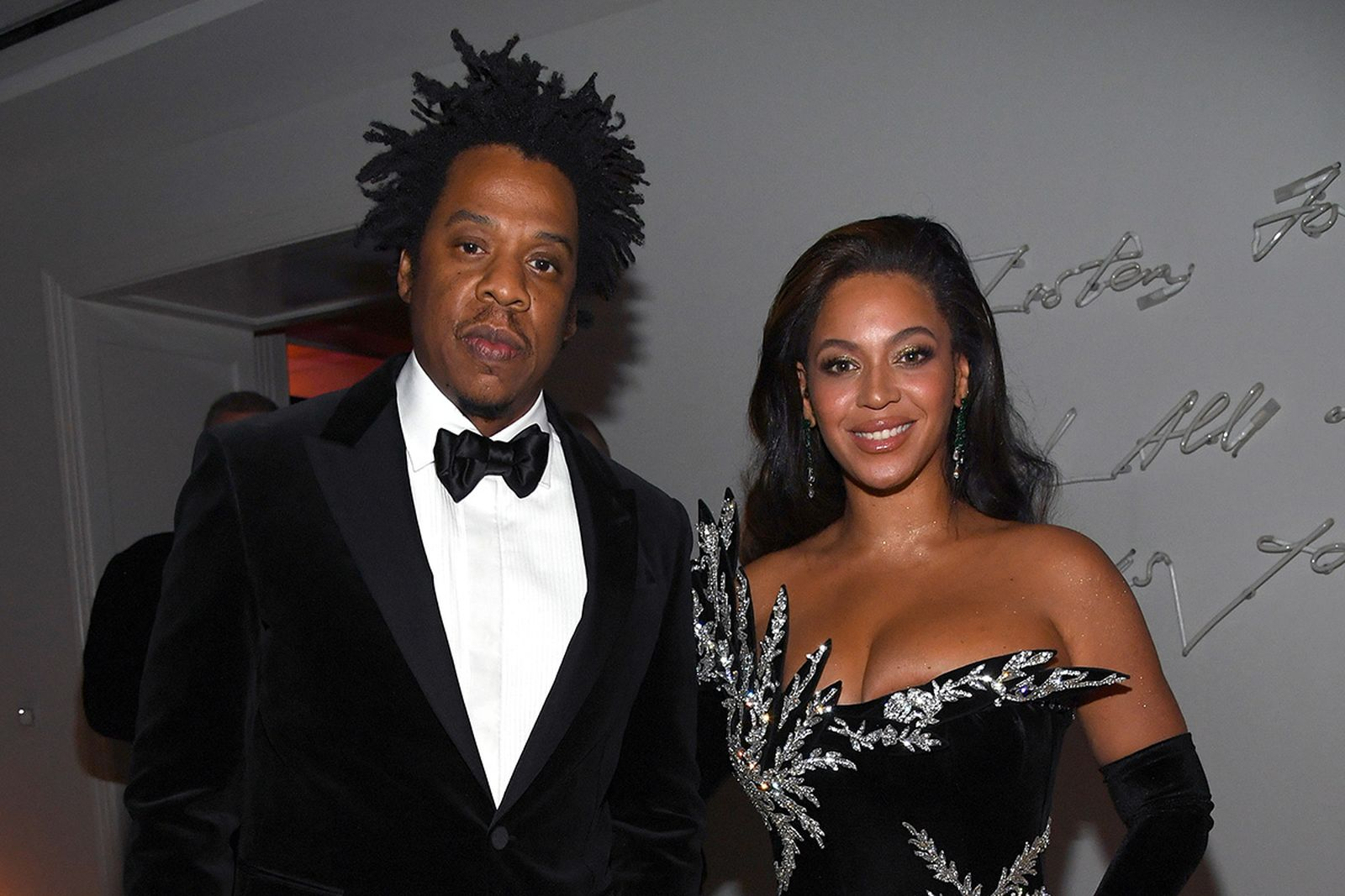 JAY Z and Beyoncé Knowles-Carter at Diddy's 50th Birthday Bash