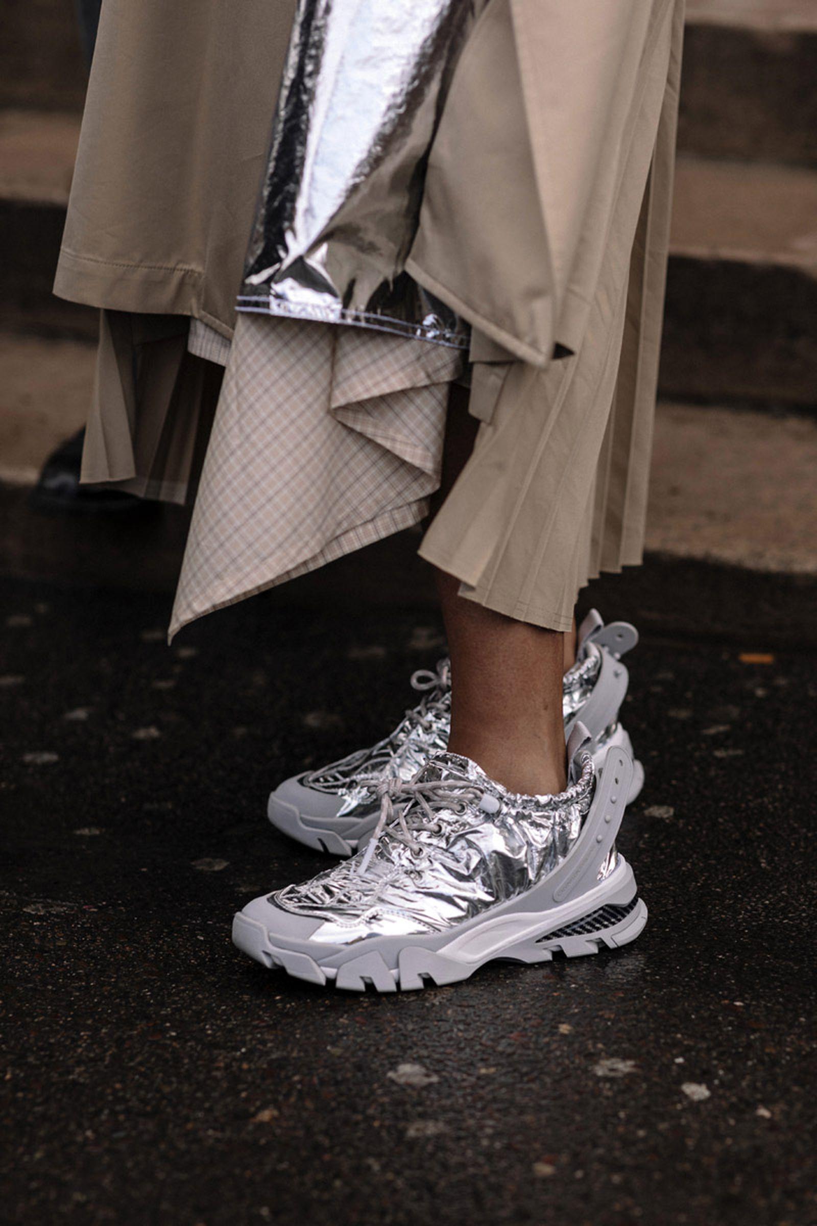 paris fashion week womens fw19 sneaker street style Adidas Balenciaga Nike