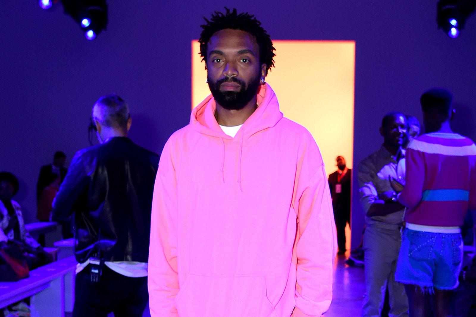 Kerby Jean-Raymond pink hoodie