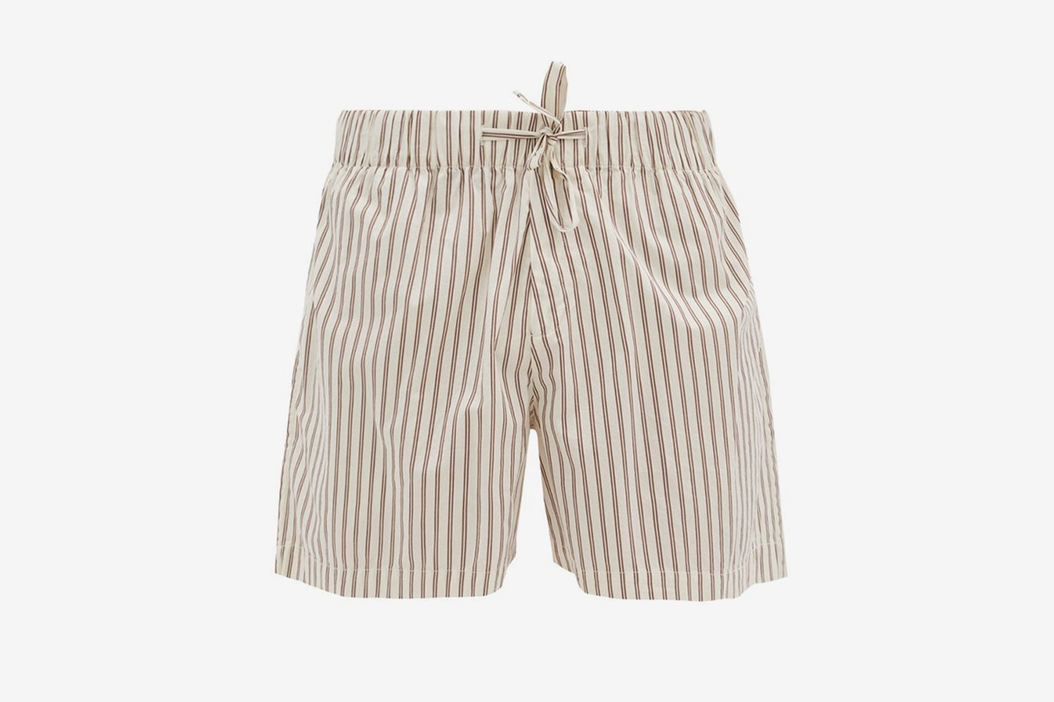 Drawstring-Saist Cotton-Poplin Pyjama Shorts