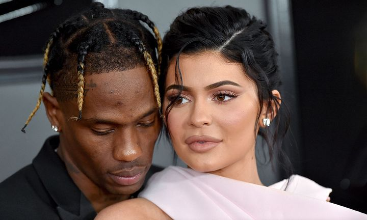 Kylie Jenner and Travis Scott attend the 61st Annual GRAMMY Awards