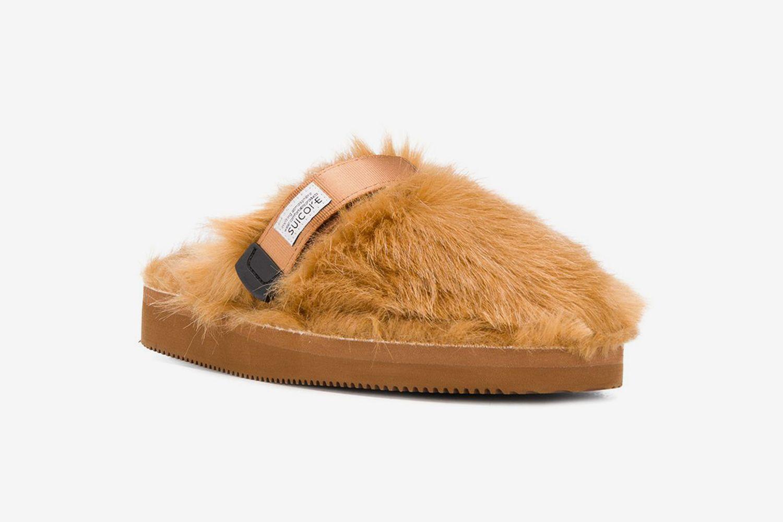 Faux-Fur Slippers