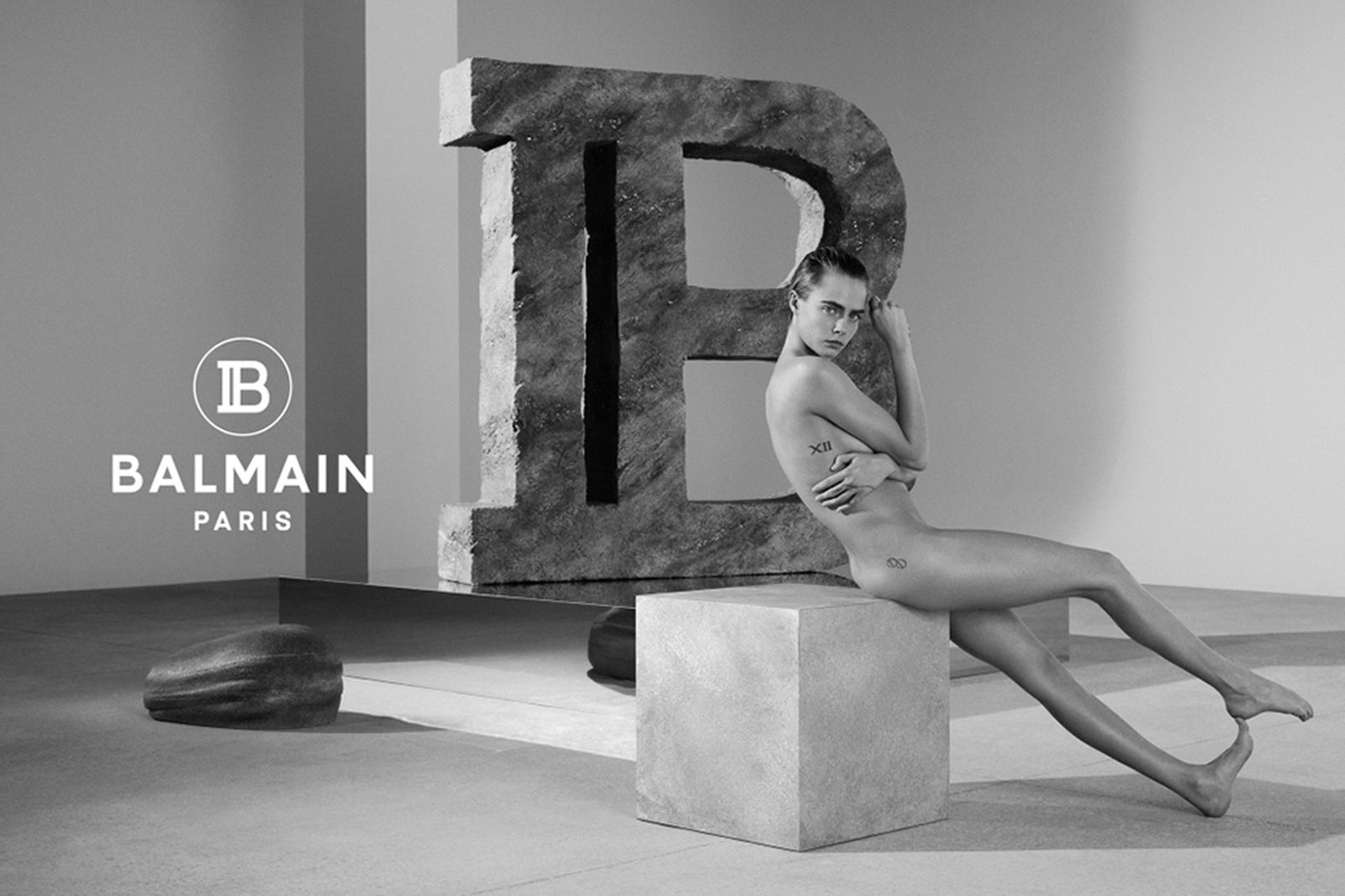 cara delevingne balmain spring 2019 campaign Olivier Rousteing