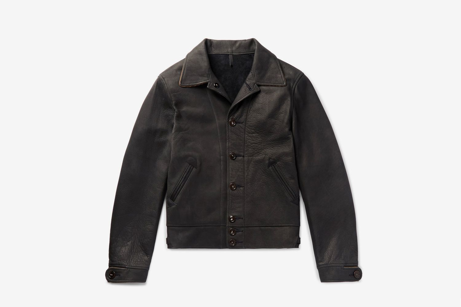 Jack's Statesman Corduroy-Trimmed Leather Jacket