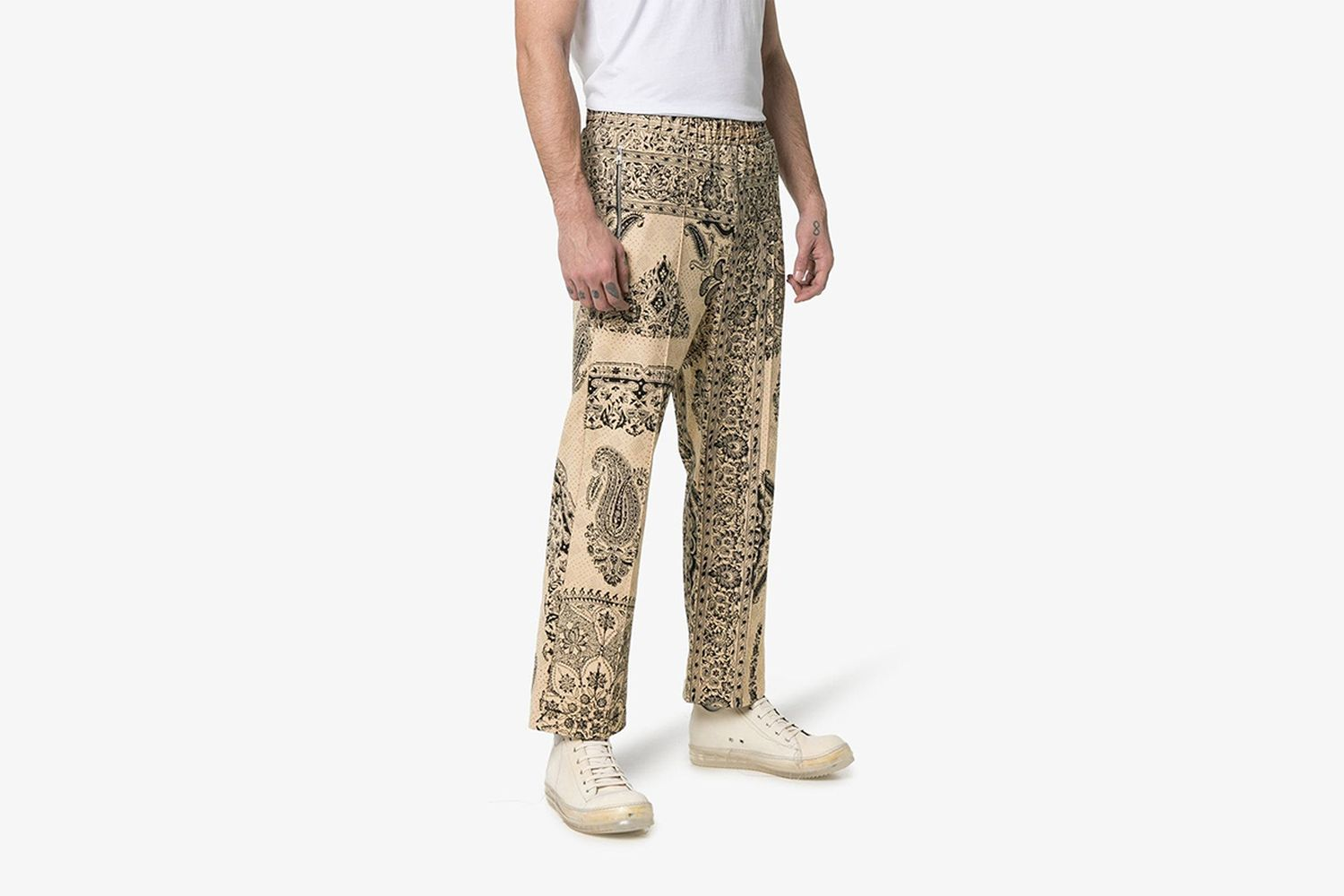 Iranian Print Cotton Sweat Pants